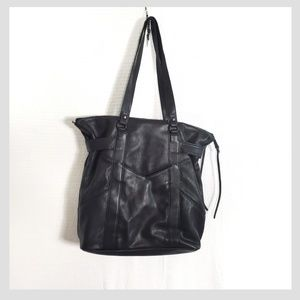 French Connection Envelope Pocket Leather Tote Bag